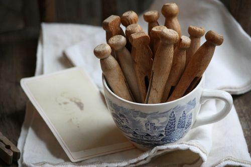 Clothespin Teacup