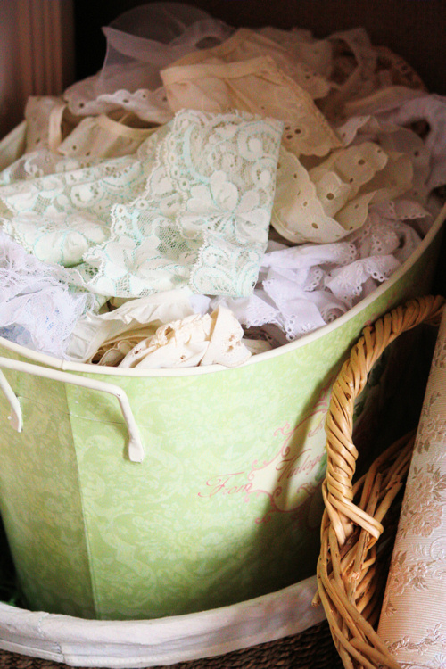 Bin of Lace and Trim
