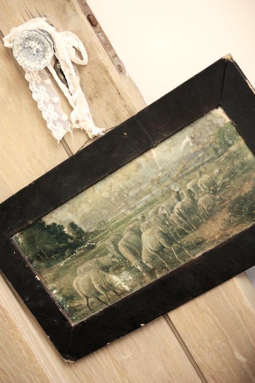 Vintage Lamb Print