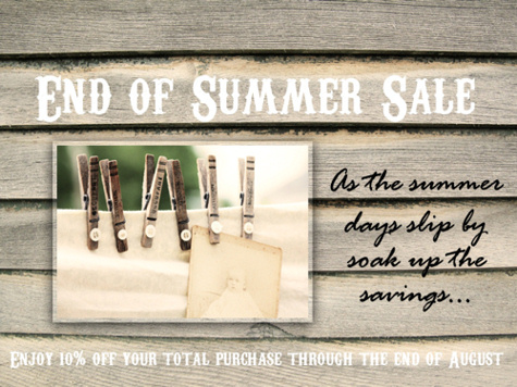 Painted White Summer Sale