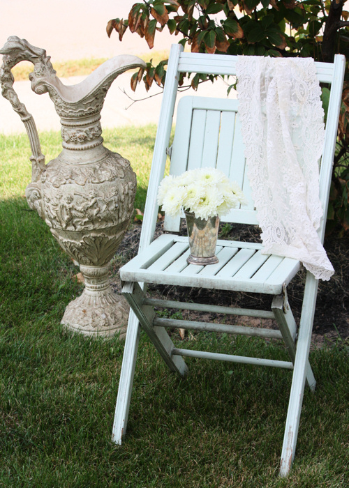 Patio Chair and Urn