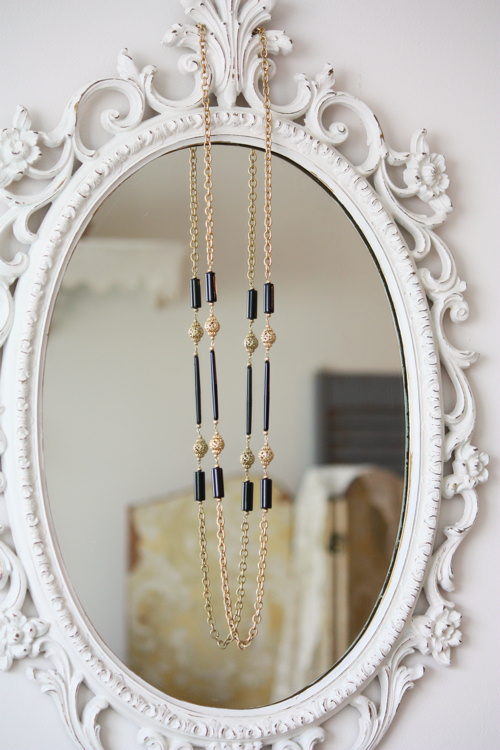 Gold and Black Vintage Necklace