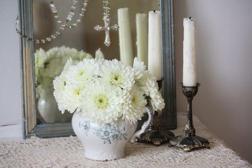 White Pom Bouquet