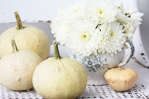 White Autumn Vignette