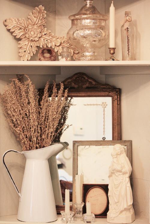Corner Shelf Vignette
