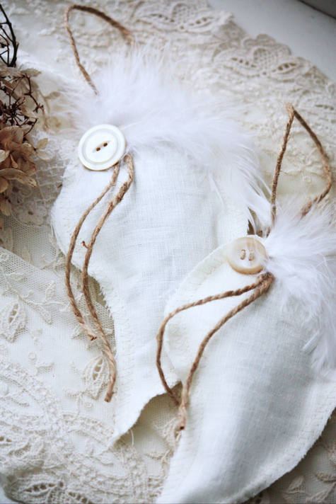 Linen Angel Wings