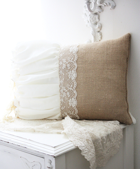 Burlap Belle Pillow