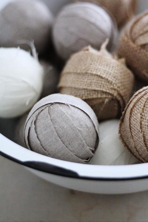 Burlap and Linen Rag Balls