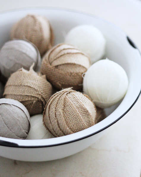 Burlap and Linen Rag Balls 2