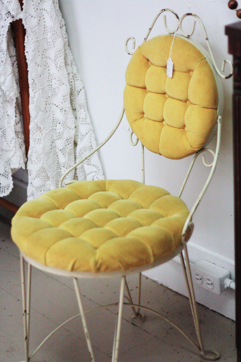 Yellow Vanity Chair