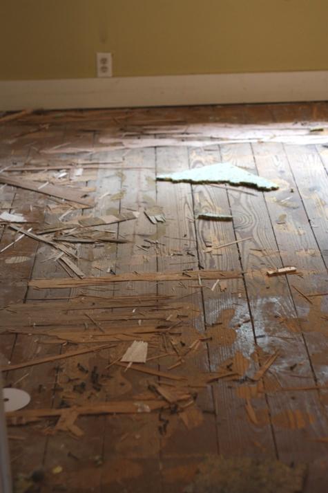 Bedroom Flooring Before