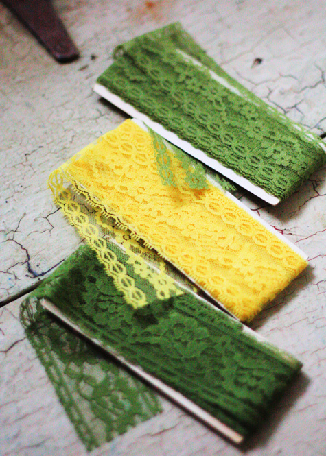 Green and Yellow Lace