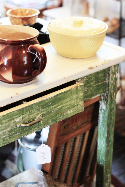 Green Farmhouse Table