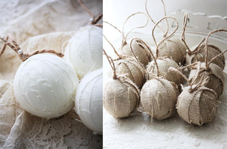 Linen and Burlap Rag Balls