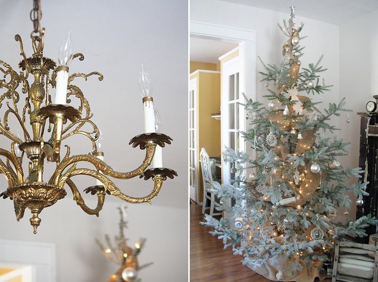 Tree and Living Room Chandelier
