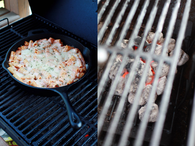 Charcoal Grill Baked Rigatoni
