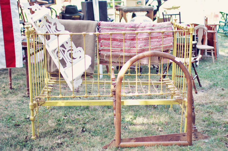 Antique Iron Baby Crib
