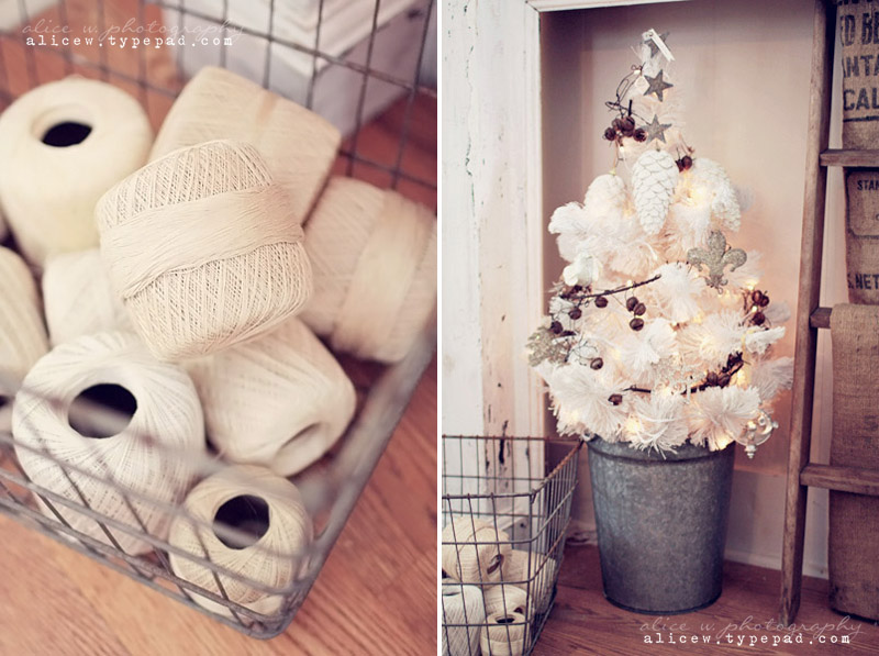 Rustic White Christmas Decor