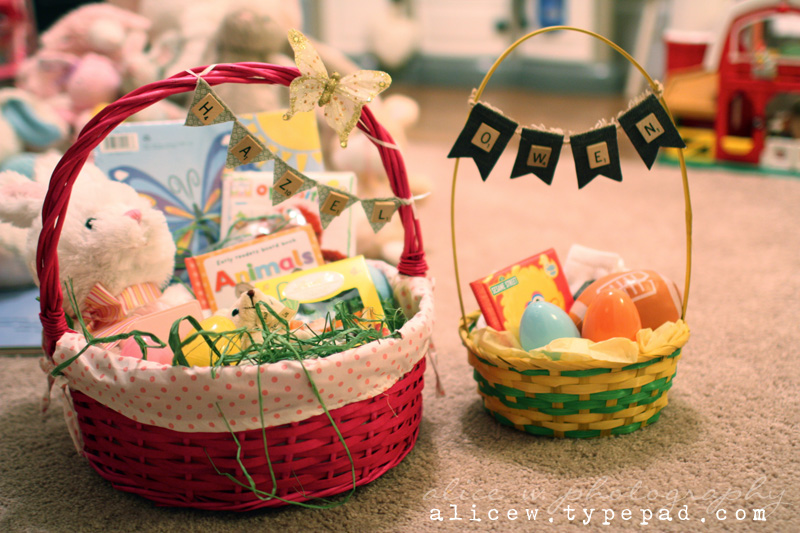 Baby and Toddler Easter Baskets