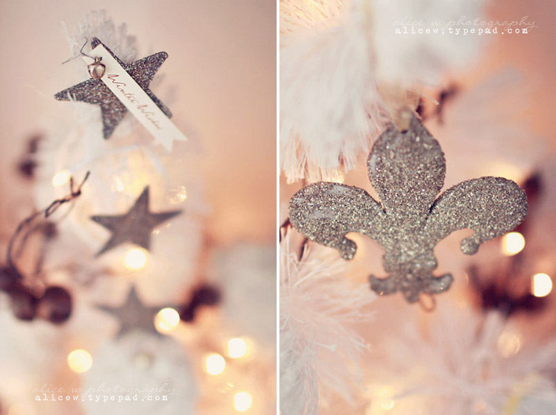 Silver Glittered Ornaments