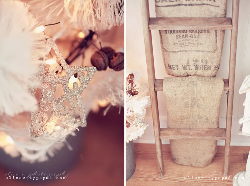 Rustic Christmas and Burlap Sacks